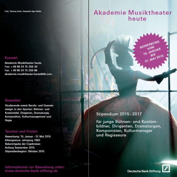 flyer akademie musiktheater heute - Deutsche Bank Bewerbung