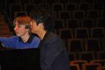 Matthias übt mit Lang Lang