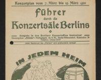 Titelseite 1921