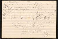 Notenblatt mit Brief, Richard Wagner