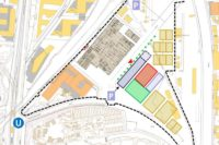 Lageplan Interim für Oper Stuttgart bei den Wagenhallen
