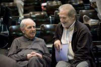 Pierre Boulez und Peter Eötvös