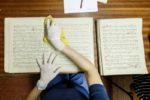 Reinigen der Notenblätter